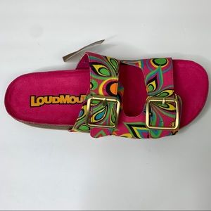 Loudmouth Birkenstock Style Pink Boho Sandals